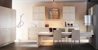 cuisine bois blanchi cuisine bois blanc photo 15 25 avec sa large table en bois clair