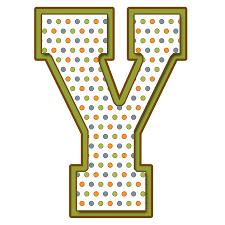 Letras Mayúsculas para imprimir de bolitas de colores Letra
