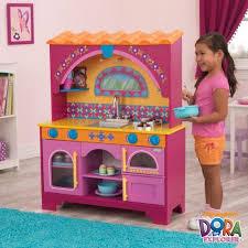 kidkraft dora the explorer kids pretend play kitchen toy set