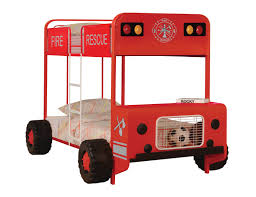 ACME Furniture Jackson Red & Black Fire Truck Twin/Twin Fire Fighter ...