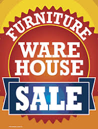 Plastic Window Sign Furniture Warehouse Sale
