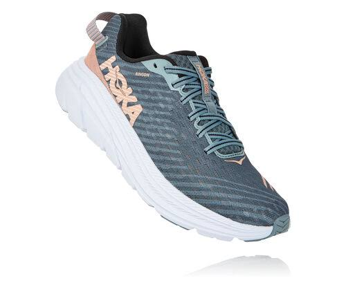 Hoka One One Rincon Running Shoe Women's, Lead/Pink Sand, 9