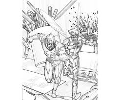 Coloring Page Ant Man Superheroes 12