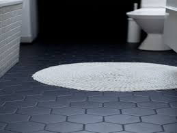 hexagon bathroom floor tile black grout ideas