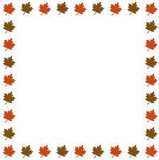 Fall Leaf Border Car