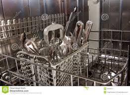 Inside Bottom Drawer Of Nearly Empty Dishwasher