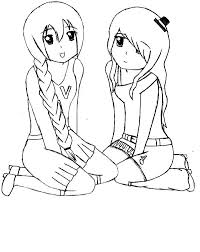 Best Friends Utau And Nana Coloring Pages