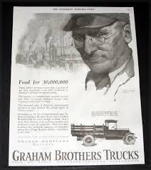 1924 OLD MAGAZINE PRINT AD, DODGE, GRAHAM BROTHERS TRUCKS, FOOD FOR ...