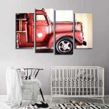 100 Fire Truck Wall Art Miniature Multi Panel Canvas ElephantStock