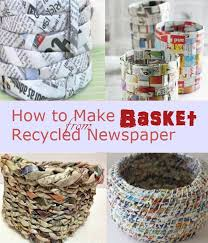 Newspaper Crafts Dont Just Throw Those Old New S Papers Right Away Recycle And Turn
