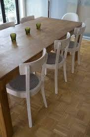 frankfurter stuhl weiß mit sitzauflage grau stühle weiße