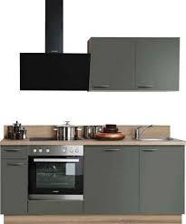 express küchen küchenzeile scafa mit e geräten vormontiert mit vollauszug und soft funktion stellbreite 200 cm