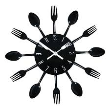 montre de cuisine acier inoxydable cuisine mur montre 3d horloge murale moderne