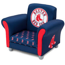 100 Great Living Room Chairs MLB Boston Red Sox Kids Upholstered Chair By Delta Children