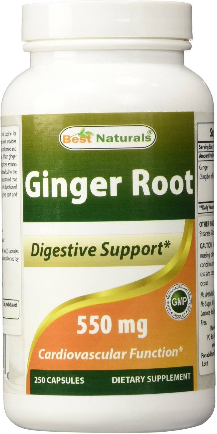 Best Naturals Ginger Root 550 MG 250 Capsules