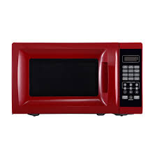 700 Watt Microwave Red With 10 Power Levels