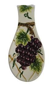 Grape Decor For Kitchen by Amazon Com Grape Spoonrest Spoon Rest Counter Top Kitchen Decor