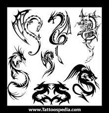 Tribal Dragon Tattoo Set
