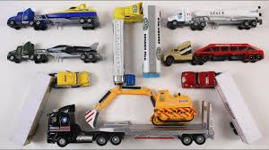 100 Types Of Construction Trucks For Kids Children Toddlers Babies Learn Of Trailer