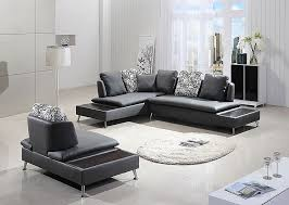 Grey Leather Sectional Living Room Ideas by Plain Modern Sectional Sofas With Chaise Franco Collection Sofa