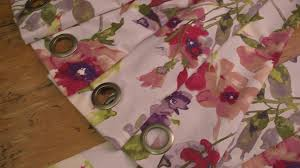 Curtains With Grommets Diy by No Sew Grommet Curtains Video Diy