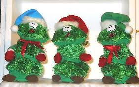 Christmas Animated Musical SINGING CHRISTMAS TREE TRIO Look What I Found On EBay