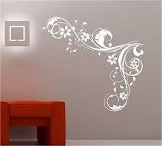 Online Design Bedroom Wall Art Swirls Flowers Vinyl Sticker Lounge