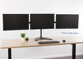 Monitor Stands For Desk by Stand V003ptriple Monitor Stand U2013 Vivous