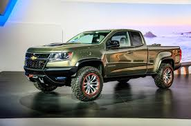 Trail-Ready Chevrolet Colorado ZR2 Concept Debuts In L.A. - Motor Trend Silverado 3500hd Kid Rock Concept Celebrates Freedom Article Mopar Floods Sema With Custom Cars And Trucks Overstock Ford Atlas Most Wanted Features For New F150 Truck Trend Hit The Surf Hyundais Santa Cruz Pickup Truck Daimler Unveils Supertruck 12mpg Semi Is More Than Twice As Fuel Chevrolet Introduces Special Ops The Great News About Colorado Z71 Trail Boss 30 News Show 2015 Concept Black Is Ultimate Survival Car Cnections Best To Buy Hyundai To Make Version Of Crossover Urban