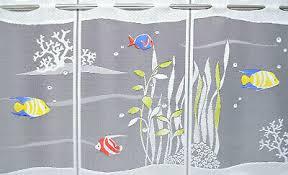 fische scheibengardine kindergardine 7 breiten bistro