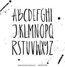 Rustic Font Unique Handdrawn Alphabet Latin