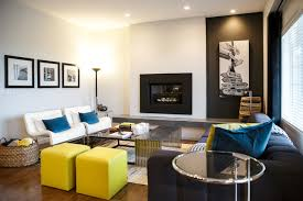 Rustic Urban City Contemporary Living Room