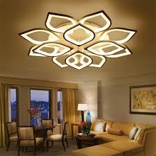 modern luxury living room led ceiling l creative lustre lotus