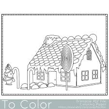Holiday Christmas Gingerbread House 2 Coloring Page For Grown Ups
