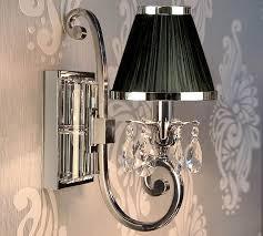 oksana nickel single wall light drops black shade 63532