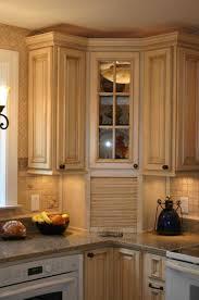 Blind Corner Kitchen Cabinet Ideas by Corner Kitchen Cabinets With Glass Doors U2022 Corner Cabinets