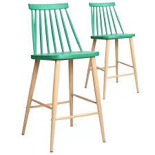 tabouret de bar tora tabouret bar vert tabouret de bar lot de 2 chaises de bar