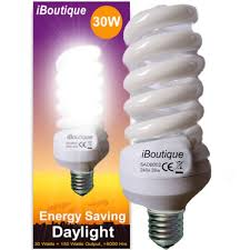 iboutique 30w edison e27 daylight energy saving light bulb