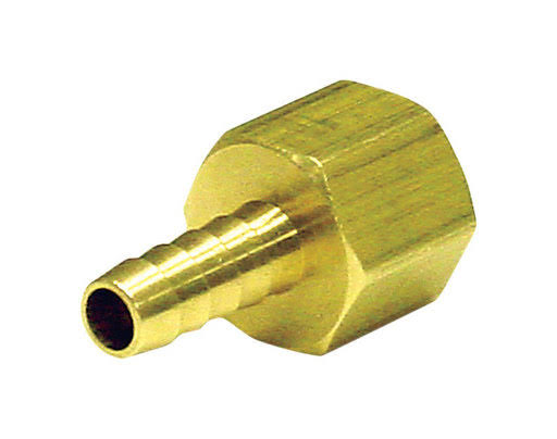 "JMF Yellow Brass Hose Barb, 3/8"" x 1/4"""
