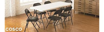 amazon com cosco fabric 4 pack folding chair black kitchen dining