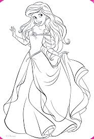Beautiful Dress Ariel Coloring Pages