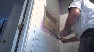 6 X 12 Beveled Subway Tile by How To Install Subway Tile In A Shower Youtube