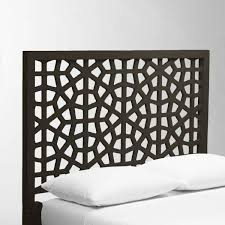 Raymour And Flanigan White Headboard by West Elm Morocco Queen Size Headboard In Chocolate Aptdeco
