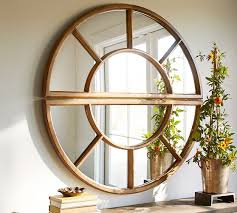 Arched Paned Mirror
