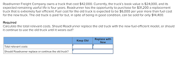 Solved: Roadrunner Freight Company Owns A Truck That Cost ... Sandy Springs How Much Does Sandblasting A Truck Cost Vehicle Wraps Inc Boxtruckwrapsinc Heavy Duty Parts Its About Total Of Ownership To Calculate Trucking Rates Best Image Kusaboshicom Dodge Ram Longhauler Concept Revealed Cost 750 To Fill Tank Coming Soon Cleaner Trucks Less Pollution And Fuel Savings The The Qcs Truck Eating Bridges A Food Open For Business 2018 Ford F150 What It Fill Up V8 News Carscom Did Epds Free Blog Bulldog 4x4 Firetrucks Production Brush Trucks Home