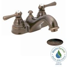 Moen Bathroom Sink Faucets Brass by Moen Kingsley 4 In Centerset 2 Handle Bathroom Faucet In Oil