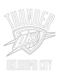 Oklahoma City Thunder Logo Coloring Page Free Printable For Nba Pages To Encourage