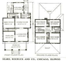 Spacious House Plans by American Four Square Sears Modern Homes