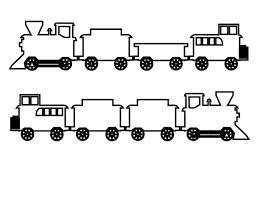 Lego Train Coloring Page