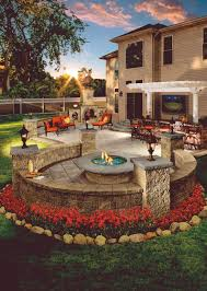 Patio Paver Ideas Pinterest by Paver Patio With Grill Surround And Fire Pit By Hoffman Estates Il